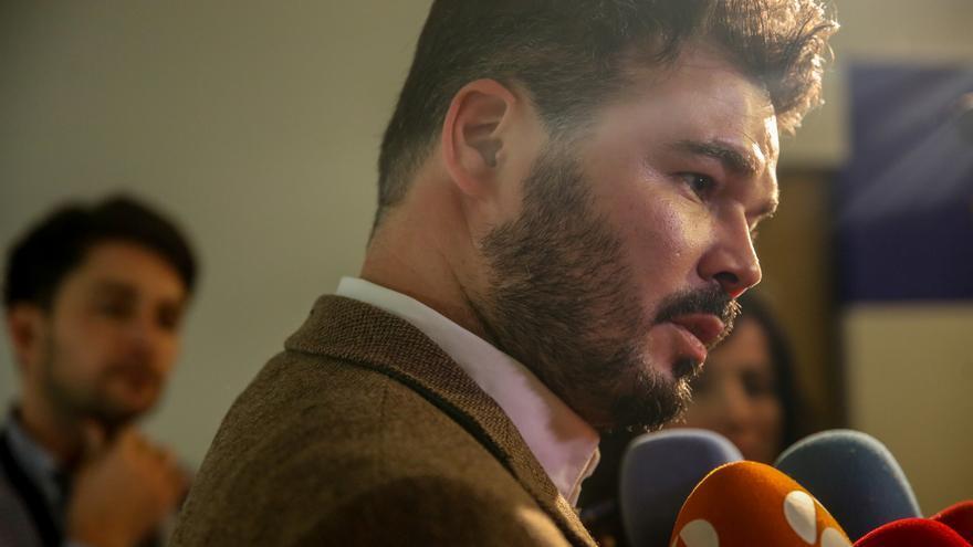 """Rufián dice que el 14 de abril es un """"buen día"""" para ir a votar y replica a Sánchez que a ERC """"no se le chantajea"""""""