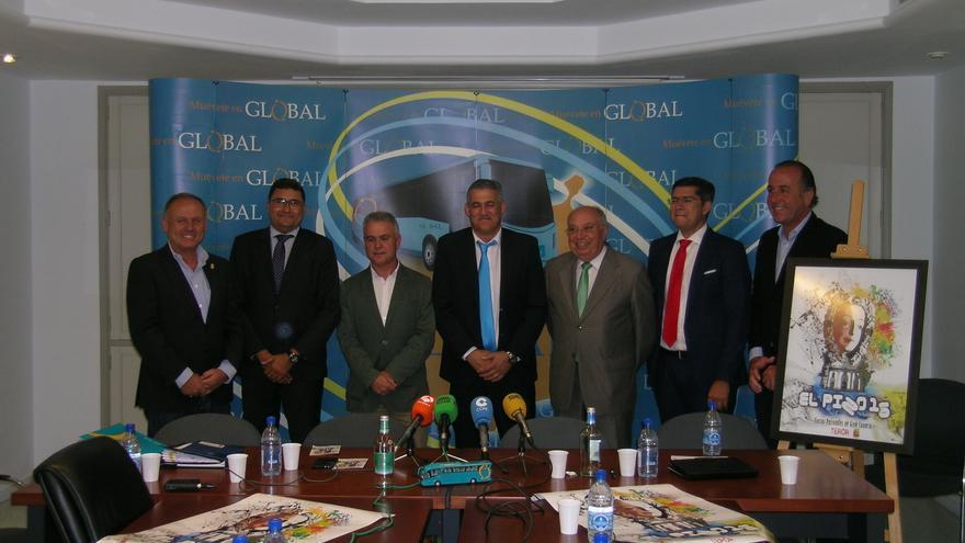 De izquierda a derecha Juan Gregorio Trujillo Domínguez, Miguel Ángel Pérez del Pino, Gonzalo Rosario, Manuel Suárez, Juan Francisco Trujillo, Saulo Castro y José Luis Báez.