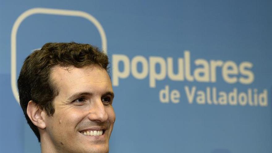 """Casado considera """"francamente decepcionante"""" la negativa del PSOE a Rajoy"""
