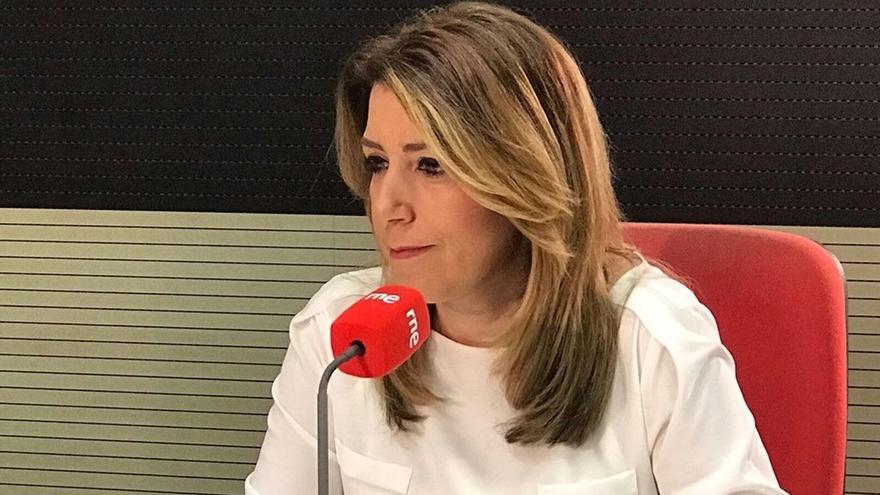 """Susana Díaz expresa que le gustaría que Chaves y Griñán, dos personas """"honestas"""", volvieran a ser militantes del PSOE"""
