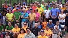 Foto de aniversario del Club de Caminantes de Las Breñas.