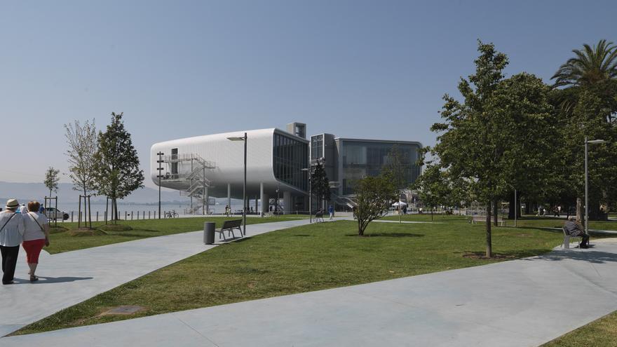 La construcción del Centro Botín también ha conllevado una remodelación de los Jardines de Pereda. | Enrico Cano