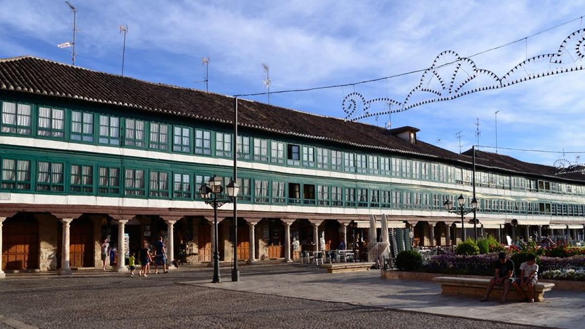 Plaza Mayor de Almagro, una de las más bonitas de España.