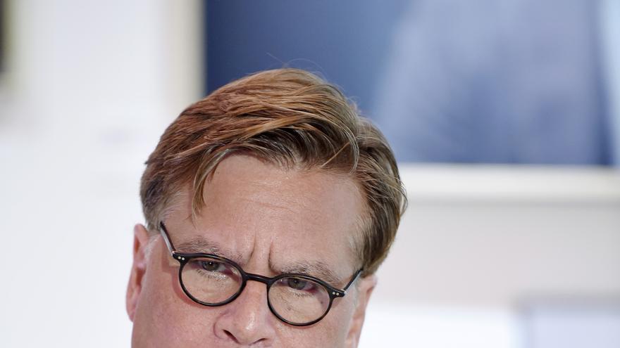 El director y guionista estadounidense Aaron Sorkin, durante su rueda de prensa en el Festival de Zürich