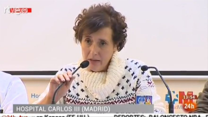 Captura de pantalla de la rueda de prensa de Teresa Romero / RTVE.es