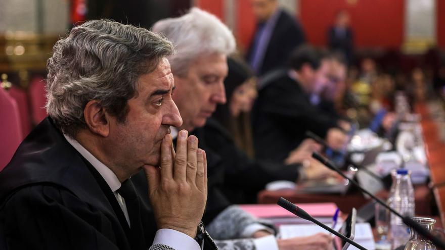 El fiscal Javier Zaragoza durante el juicio en el Tribunal Supremo por el procés.