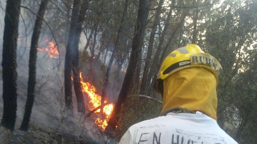 Bombero forestal en huelga / Foto: BRIF