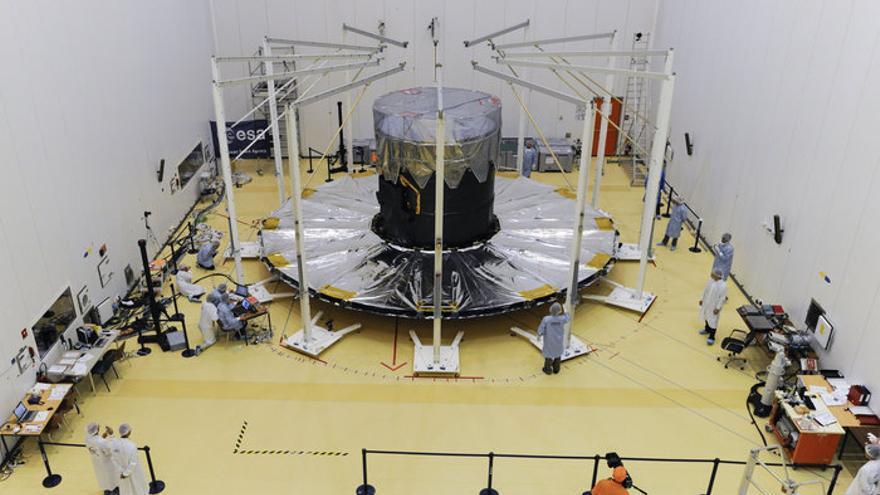 El parasol de Gaia durante las pruebas de despegue (ESA–M. Pedoussaut)