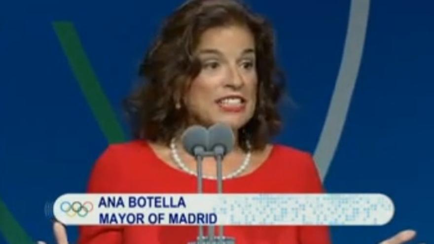Ana Botella durante su discurso