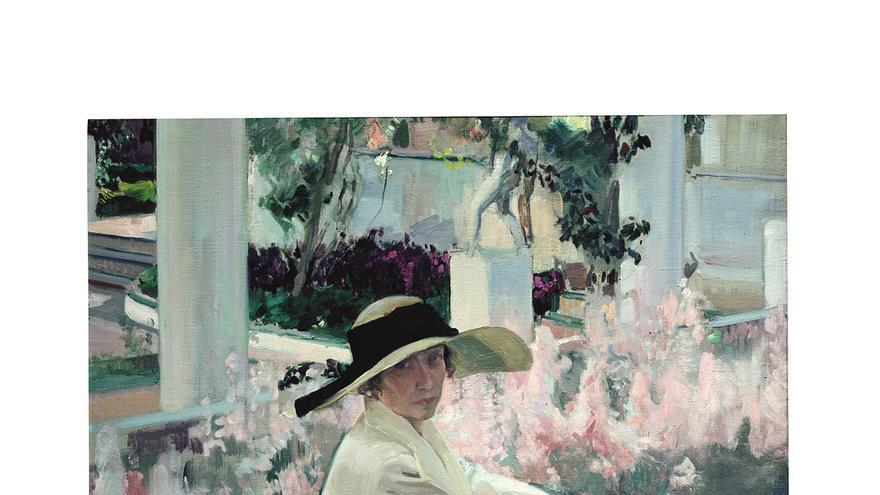 Clotilde en el jardín, 1919 - 1920. Museo Sorolla, inv. 1271