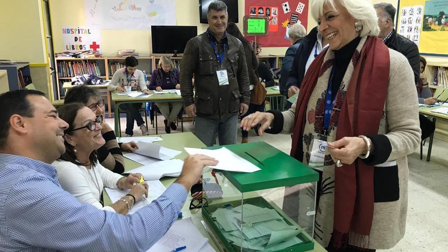 Teófila Martínez, en una imagen de las últimas elecciones autonómicas.