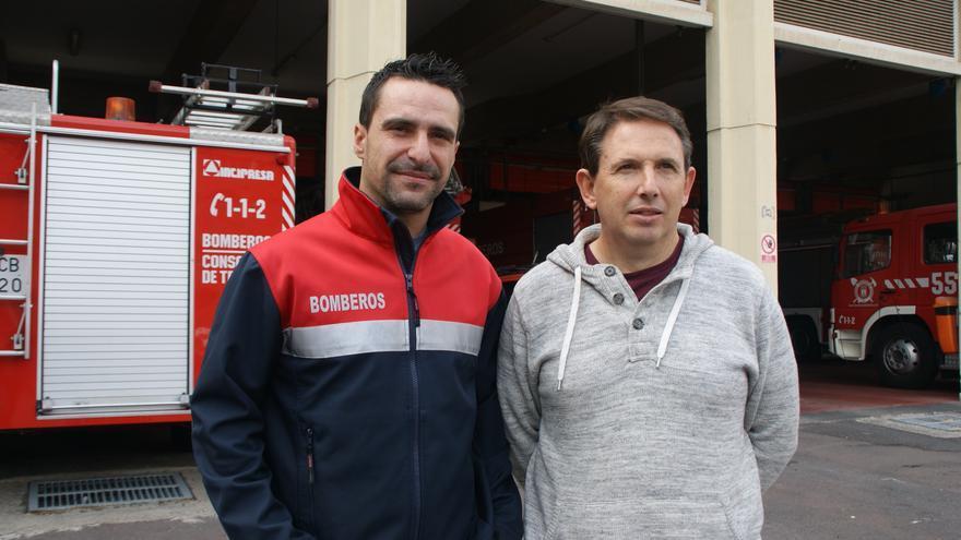 Javier Sevillano, a la derecha, y Andrés Reyes, secretario de la Junta de Personal