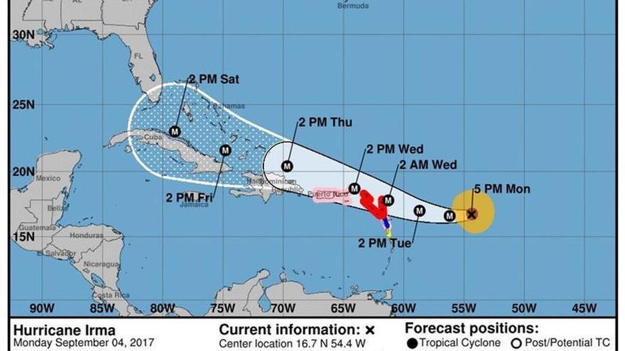 Irma, de categoría 5, se fortalece aún más en su camino a las Antillas Menores y Puerto Rico