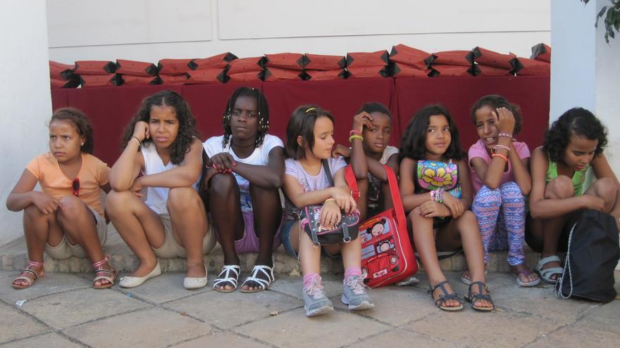 Un grupo de niños saharauis que pasarán este verano en acogida con familias en Córdoba.
