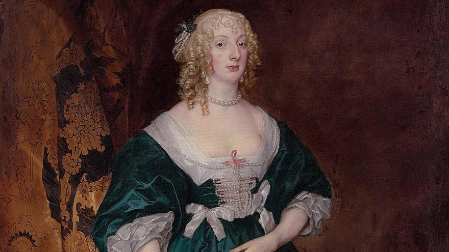 """Imagen de la obra """"Anna Sofía, condesa de Carnarvon"""" del pintor flamenco Anton Van Dyck."""