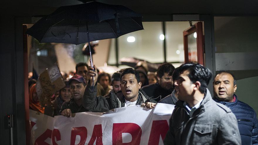 Tancada migrants UB