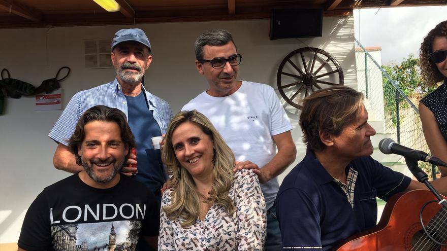 Arriba, Santiago Pérez y Javier Abreu. Abajo,  Gustavo Matos, Elena Saiz y Juan Fernando López Aguilar.