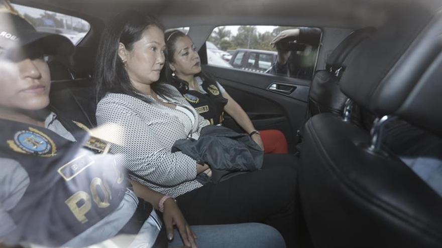 Admiten a trámite recurso de apelación por la detención de Keiko Fujimori