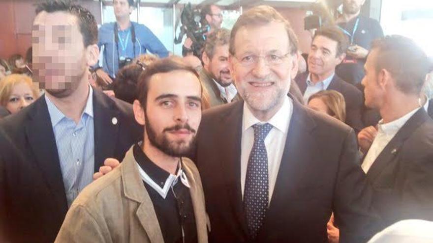 Santiago González, en una de sus tantas fotos con políticos, esta vez con el presidente Rajoy
