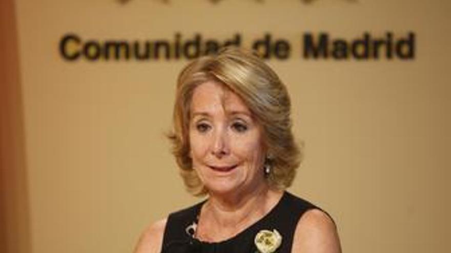Esperanza Aguirre en el Consejo de Gobierno