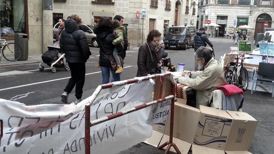 Pza.Celenque - Protesta Bankia Acampada PAH Firma ILP