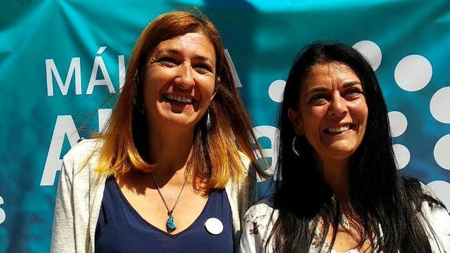 Ysabel Torralbo y Rosa Galindo, candidata de Málaga Ahora a la alcaldía de Málaga
