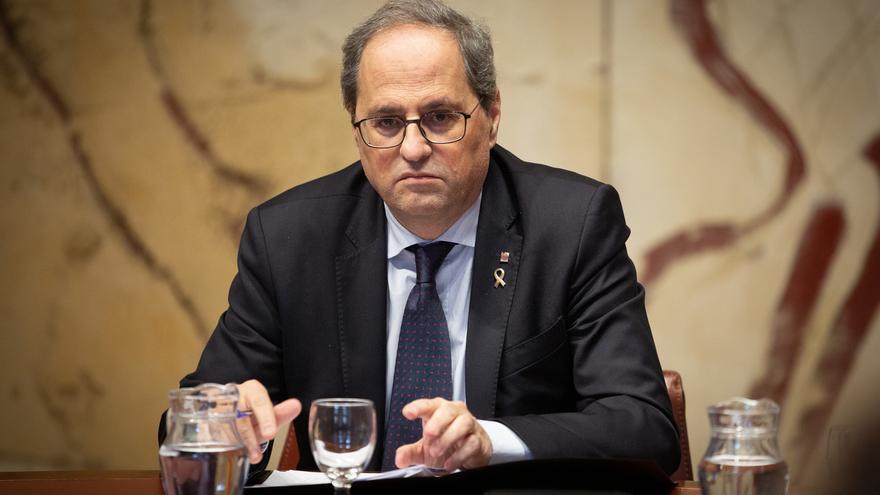 La Mesa del Parlament mantiene a Torra como diputado y rechaza retirarle el escaño