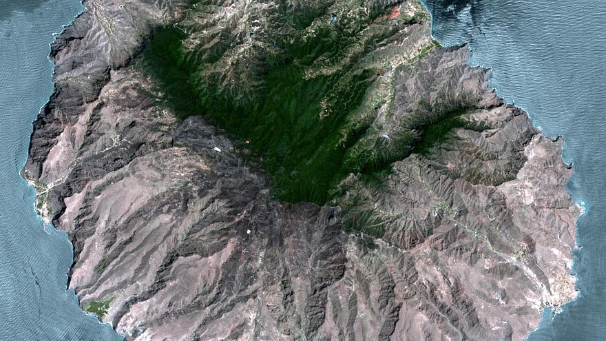 Imágen por satélite de La Gomera. (ELECNOR DEIMOS)