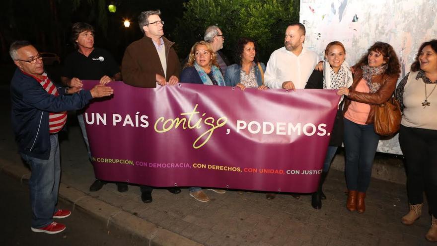 Acto de arranque de campaña electoral de Podemos.