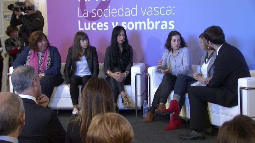 San Sebastián, Carrasco, García Martín, Olaciregui y Zamarreño, en el acto de Gogora