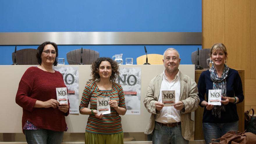 Presentación del primer protocolo contra el acoso sexual en el trabajo del Ayuntamiento de Zaragoza.
