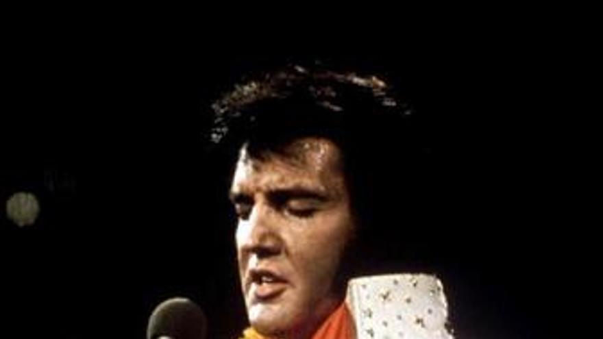 El cantante Elvis Presley en un concierto