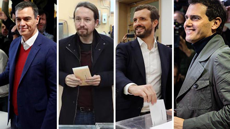 Candidatos 10N: Sánchez, Iglesias, Casado y Rivera