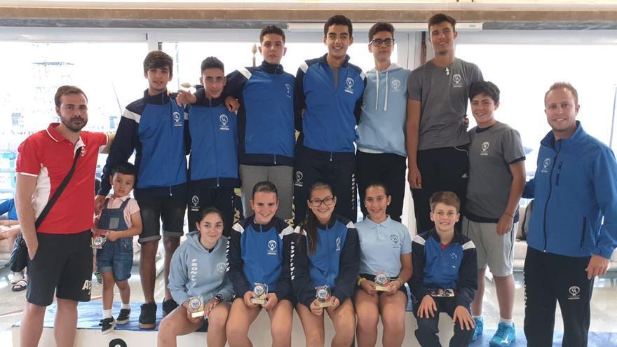 Equipo del Círculo que compitió en el RCNT el pasado fin de semana