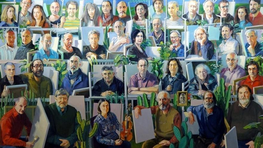 La galería Juan Manuel Lumbreras de Bilbao acoge hasta el 3 de febrero una exposición del pintor Alfonso Gortázar