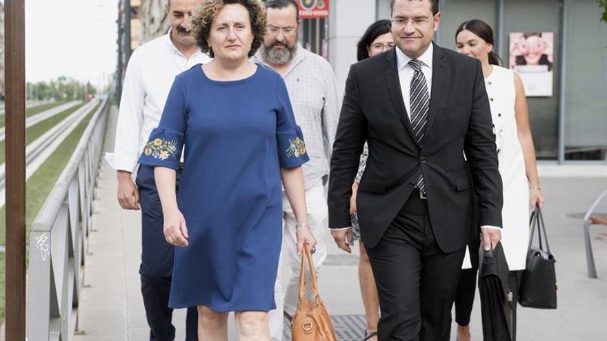 Francisca Granados, a su llegada a los juzgados de Granada