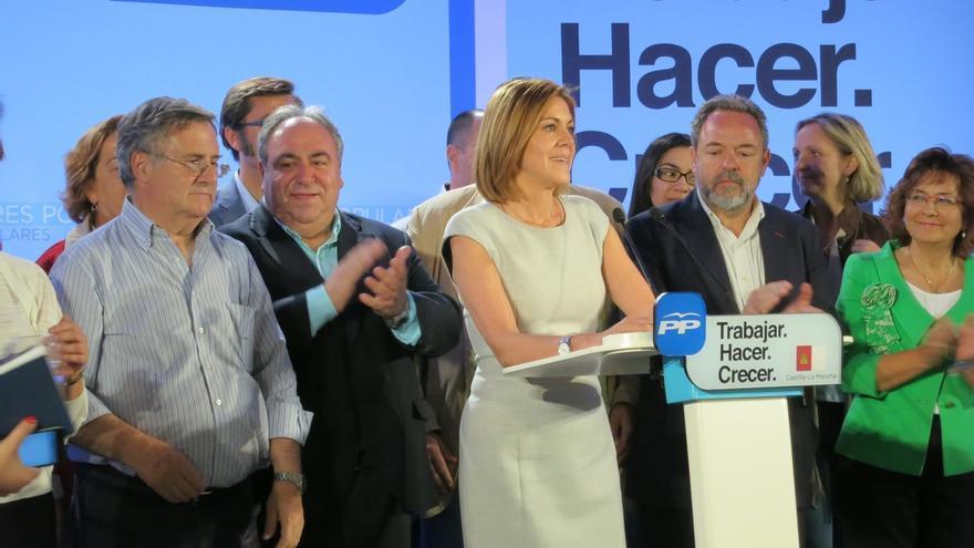 """Cospedal: """"Los ciudadanos han hablado y han depositado su confianza mayoritaria en el PP"""""""