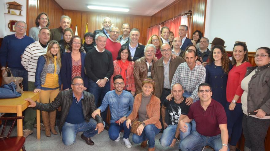 Visita de Juan Luis Gordo a La Aldea..