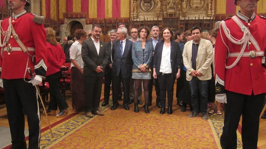 Acto institucional en el Ayuntamiento de Barcelona
