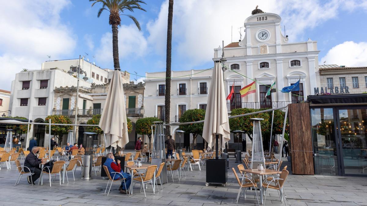 Mérida, en la foto, notifica 8 contagios de los 291 de este lunes en Extremadura