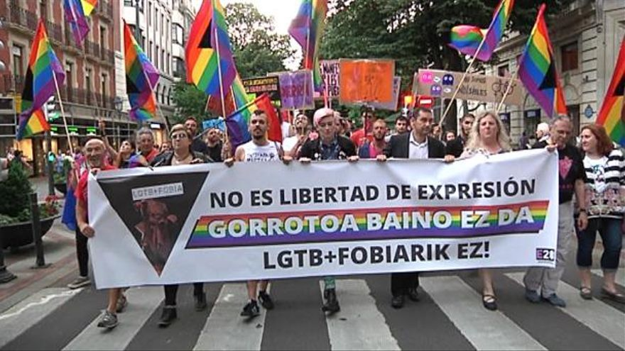 Manifestación del colectivo LGTBI en Bilbao 2017. Foto: EITB