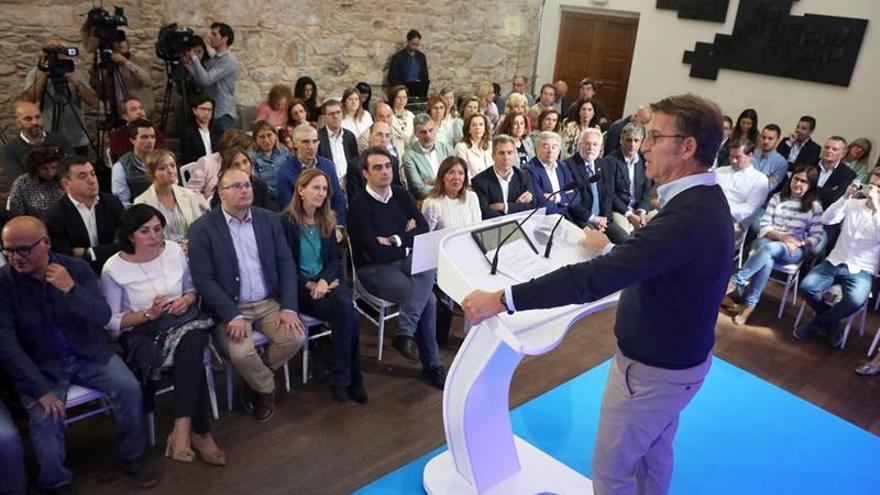 """Feijóo pide al PPdeG """"reaccionar"""" para revalidar la mayoría absoluta en 2020"""