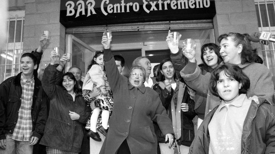El centro extremeño de San Sebastián, durante una celebración