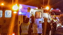 Imagen de la intervención sanitaria en el accidente.