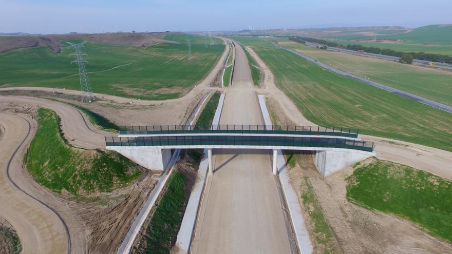 Adif Alta Velocidad finaliza las obras de la plataforma del tramo Peralta-Olite