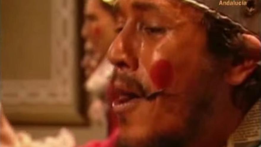 José María González 'Kichi' durante su actuación en los Carnavales de 2008 (Canal Sur)