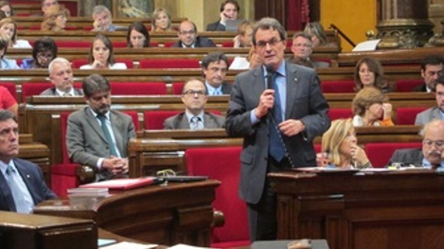 Sesión De Control En El Parlament De Catalunya