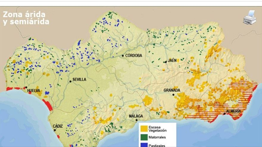 Zonas áridas de Andalucía