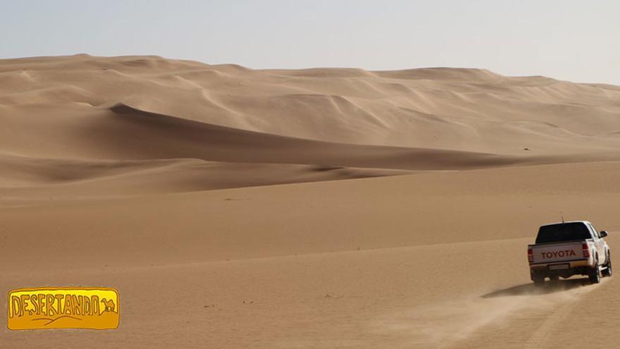 El desierto del Sahara.
