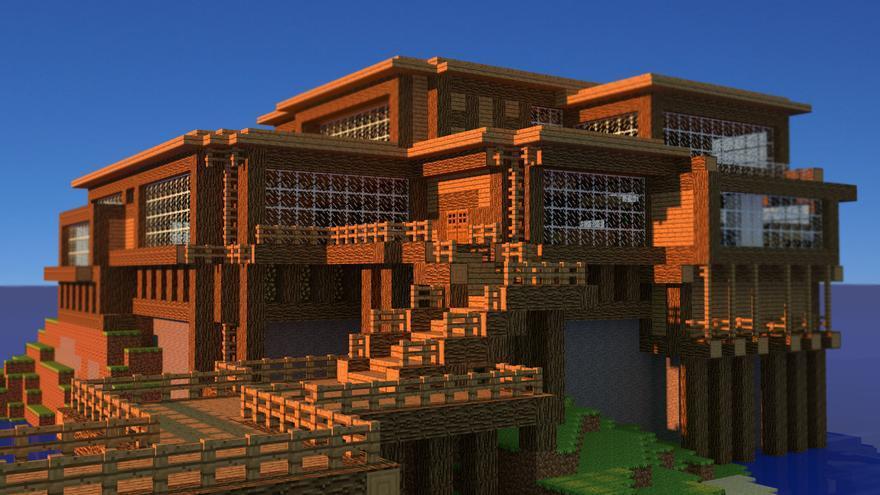 Una de las muchas obras de Minecraft, un videojuego con una base similar al de cualquier juego de construcción tradicional.